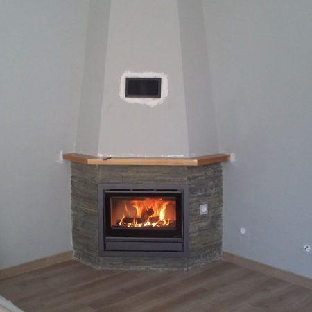 Instalación completa de chimenea